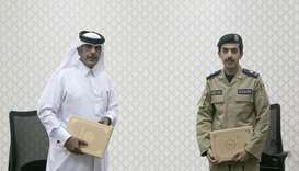 Director of the Police Training Institute Major Ali Saud al-Hanzab, and the Director of the Customs