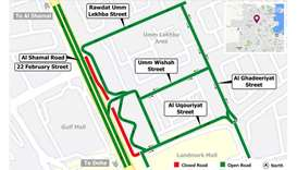5-month closure on Al Shamal Road service road