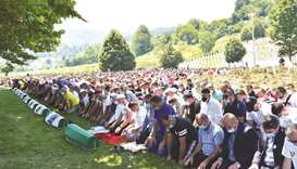Bosnia Muslims mourn their dead 25 years after Srebrenica massacre
