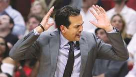 Miami Heat head coach Erik Spoelstra. (TNS)