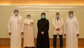 HE the Minister of Public Health Dr Hanan Mohamed al-Kuwari meets with a group of cadres of intensiv