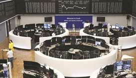 The German share price index DAX graph is pictured at the Frankfurt Stock Exchange. The benchmark fe