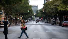 Downtown streets are seen nearly empty on July 14, in Austin, Texas