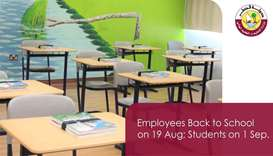 Back to Schools: Teachers by August 19, students on September 1