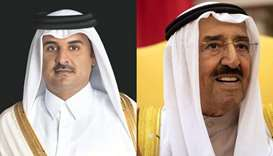 Amir wishes Kuwaiti leader good health