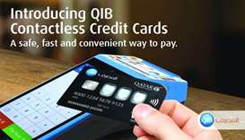 All QIB's new, replacement credit cards are now contactless to support Tap & Pay transactions