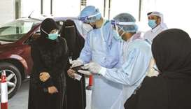 HE the Minister of Public Health Dr Hanan Mohamed al-Kuwari during a visit to the Al Waab Health Cen
