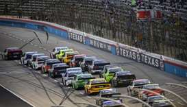A view of the race restart