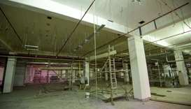 An interior view of the under construction Al Meshaf Health Centre.