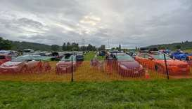 THE SHOW MUST GO ON: Roughly 130 carloads of music fans attended one of Washington's first drive-in