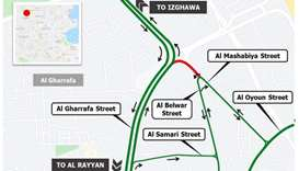 Closure of south access from Al Gharrafa Street