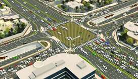 The number of lanes will be increased at Fereej Al Ali Interchange (known as Al Tadamon Intersection