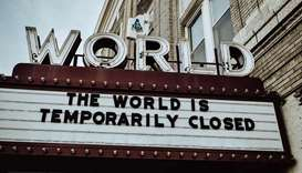 SHUT: A quite descriptive view of the state of cinema these days: a theatre named World is shut down