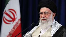 Iranian Supreme Leader Ayatollah Ali Khamenei addressing nation in a live Tv speech on the occasion