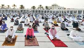 Piety and precaution mark Day 1 of Eid