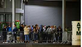 People are seen at the Borough Market, as the outbreak of the coronavirus disease continues, in Lond