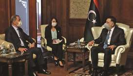 Fayez al-Sarraj, Prime Minister of Libya's UN-recognised Government of National Accord (GNA) receive