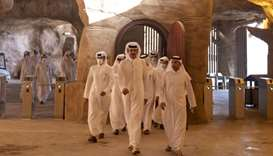 His Highness the Amir Sheikh Tamim bin Hamad al-Thani makes an inspection visit to the Salwa Beach R