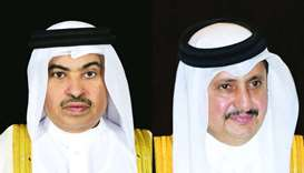 HE the Minister of Commerce and Industry Ali bin Ahmed al-Kuwari and Qatar Chamber chairman HE Sheik