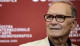 "Ennio Morricone poses during the photocall of ""Baaria"" at the Venice film festival on September 2, 2"