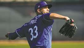 Los Angeles Dodgers pitcher David Price in action during a training session at Camelback Ranch in Ph