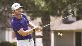 Matthew Wolff of the United States plays his shot from the fourth tee during the third round of the