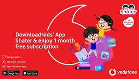 Vodafone Qatar launches 'Shater' entertainment app for kids