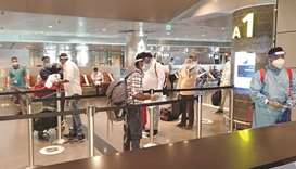 Kozhikode-bound passengers at HIA on Thursday.