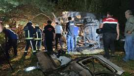 At least 12 killed as bus carrying migrants crashes in Turkey