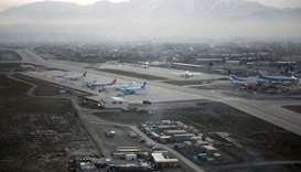 An aerial view of the Hamid Karzai International Airport in Kabul.