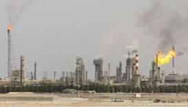 An oil refinery on the outskirts of Doha (file). QP earlier this month raised $12.5bn in a multi-tra