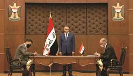 A handout picture released by Iraq's Prime Minister's Media Office on Saturday shows Prime Minister