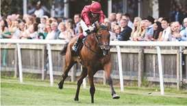 Thousand Oaks won a Class 3 race for three- and four-year-olds at Newmarket Racecourse in UK on Frid