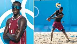 Qatar's Cherif Younousse (left) and Ahmed Tijan is confident of a podium finish at Tokyo Games.