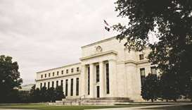 The Federal Reserve building in Washington, DC. As rising prices and the spread of new Covid-19 vari