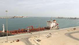 A part of the Ras Laffan Industrial City. Qatar's gas production process is among the lowest carbon-