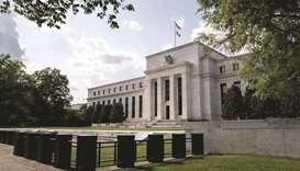 The Federal Reserve building in Washington, DC. The Fed kept the target range for its benchmark poli