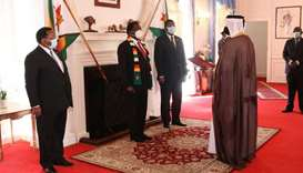 The president entrusted the ambassador to convey his greetings to HH the Amir, wishing him good heal
