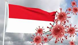 Covid in Indonesia flag