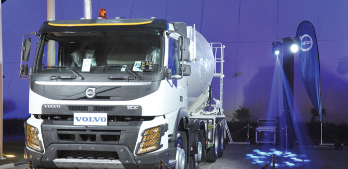 The FMX Transit Mixer on display for the customer to get a look and feel of it.