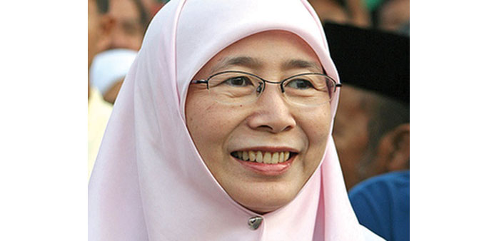 Anwar's wife replaces him in parliament