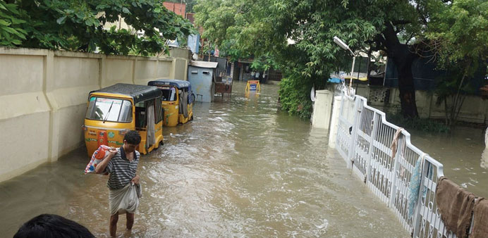 Hundreds of people have died in floods in Chennai since last month.