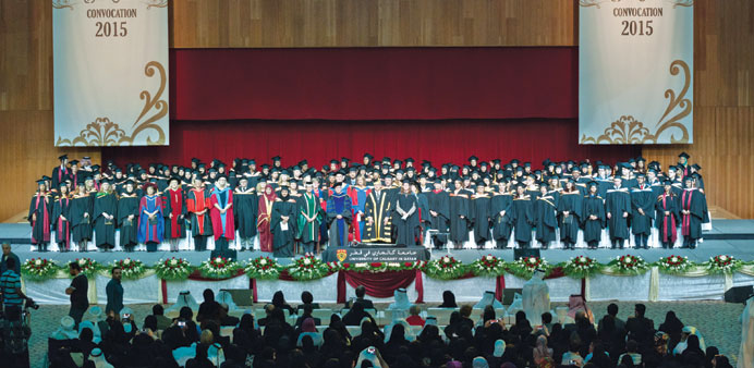 UCQ graduates and guests at the convocation.
