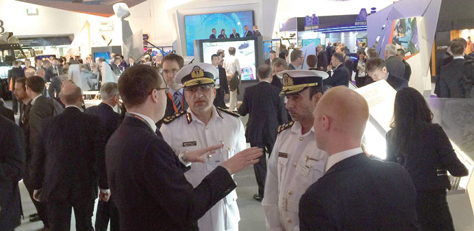 Dimdex 2016 delegation holding discussions at DSEi.