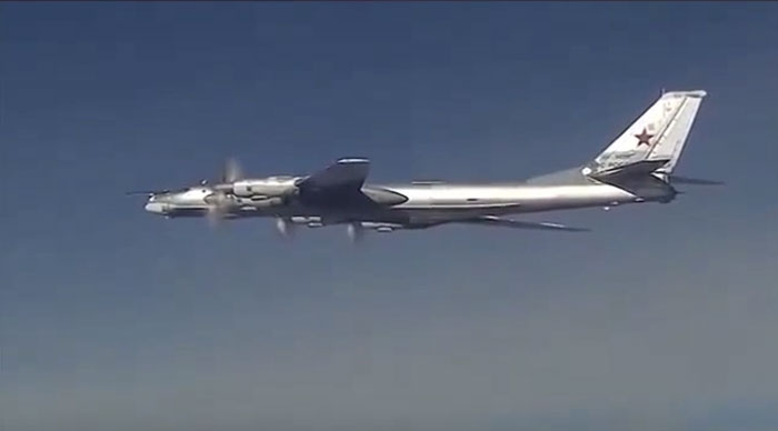 Russia's Tu-95 fighter plane on way to attack ISIS targets with Cruise Missiles