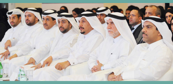 Officials and dignitaries at the forum.