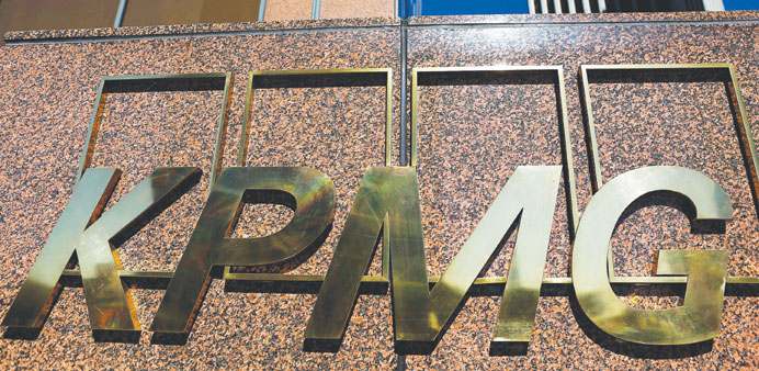 KPMG signage is seen outside its offices in Los Angeles. The US regulator said the accounting firm h
