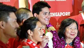 Rousing welcome for Singapore Olympic star Schooling