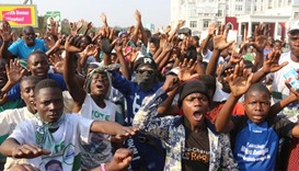 Supporters of Edgar Lungu celebrate