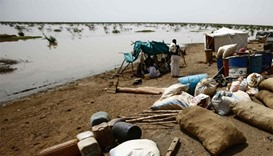 Aid workers struggle to help floods homeless in Sudan